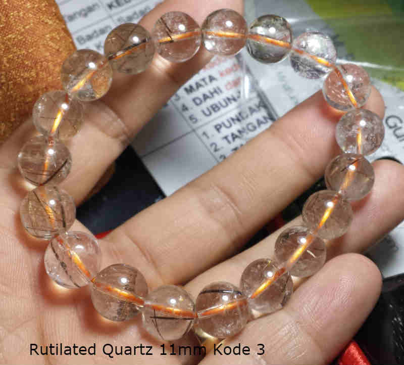 Rutilated Quartz 11mm Kode 3