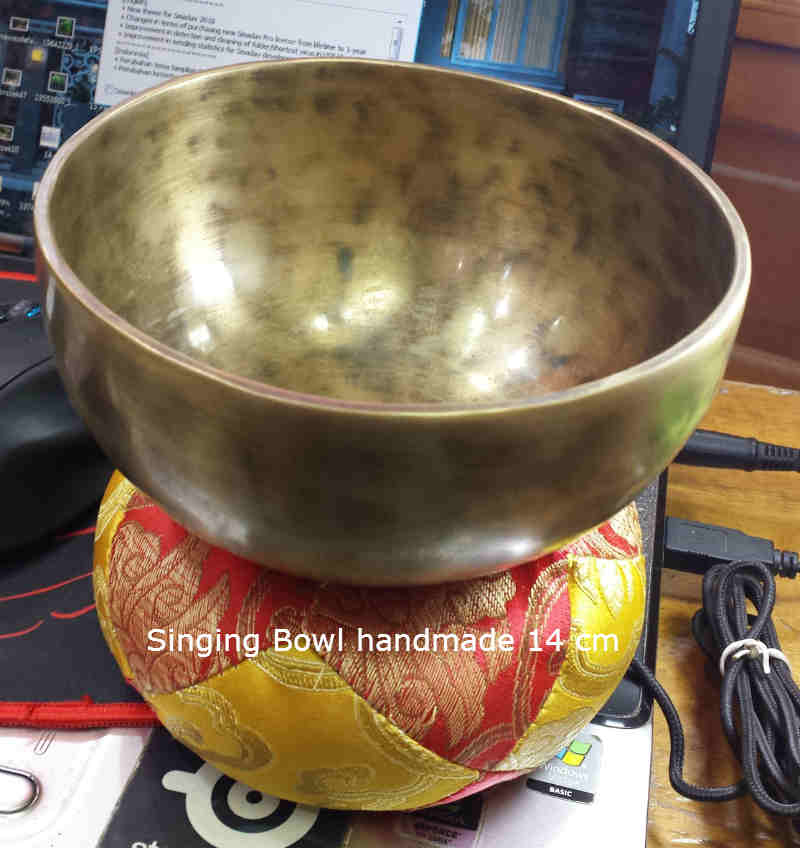 Singing Bowl Handmade 7 logam 14cm Good Quality