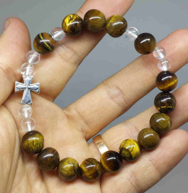 Gelang Rosario Tiger Eye 10mm