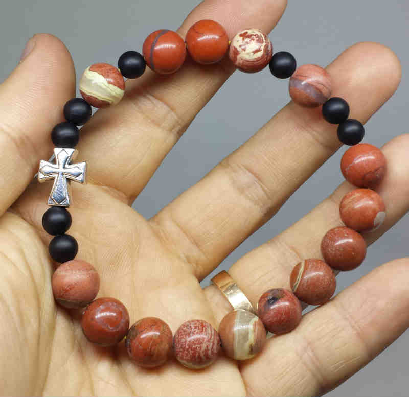 Gelang Rosario Red Jasper 10mm