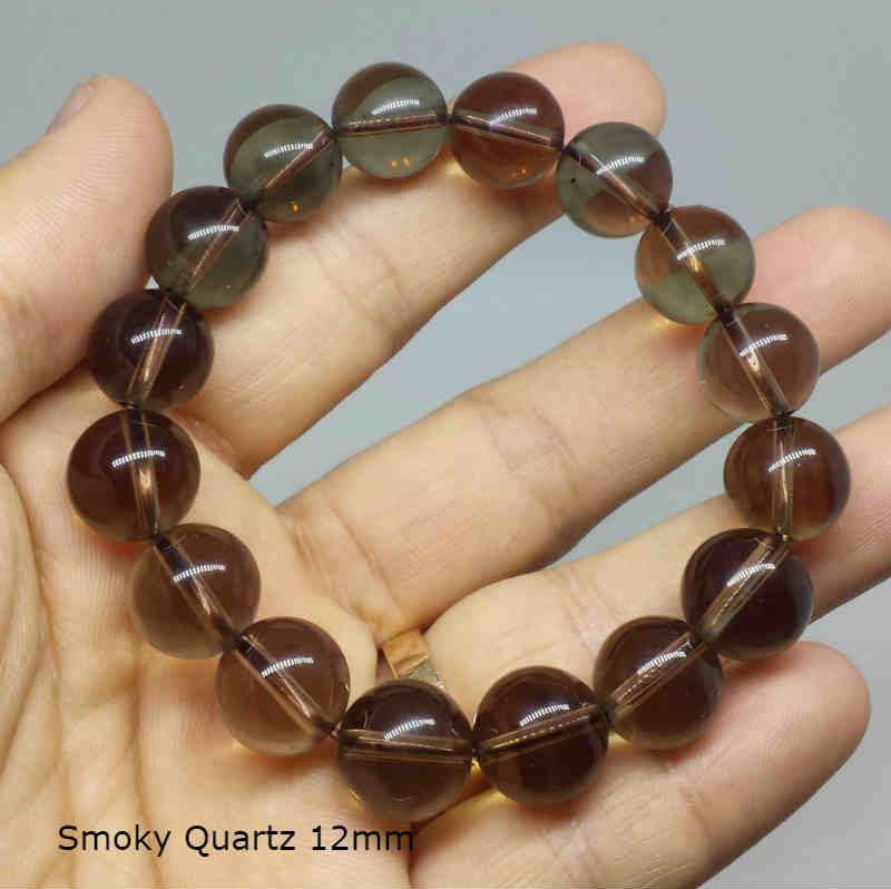 Gelang Natural Smoky Quartz 12mm