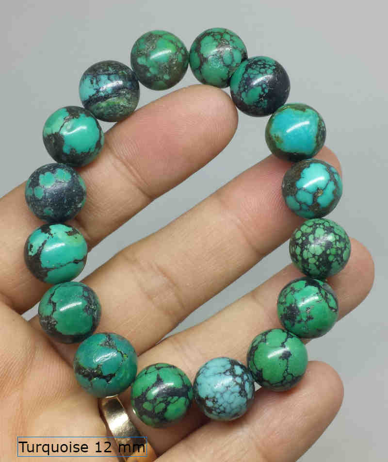 Gelang Natural Turquoise 12mm
